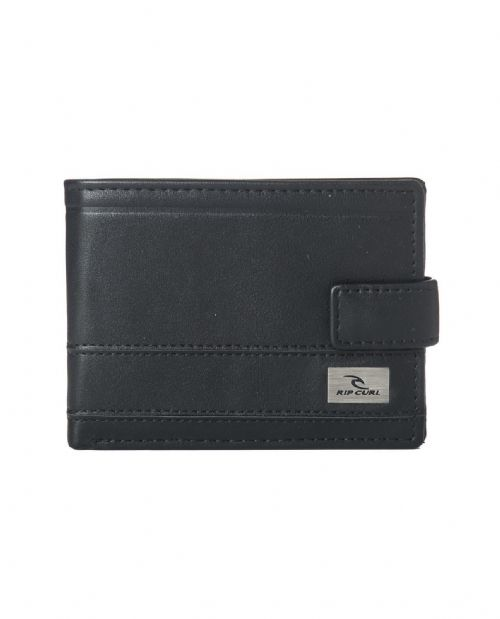 RIP CURL MENS WALLET.REFLECT CLIP FAUX LEATHER BLACK MONEY NOTE PURSE 8W A1 90